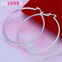 Reifen Huggie Aglover 925 Sterling Silber Große Ohrringe für Frauen Modeschmuck Geschenk Großhandel