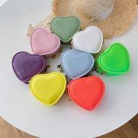 New Girls Love Heart Handbags Fashion Peach Jelly Bag Bag Donne Pure Color Catena di colore Mini Borse a tracolla Valentine's Day Messenger Bag C6732