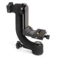 BK-45 Panoramic 360 graus vertical Pro Gimbal Tripé Cabeça 1/4 polegada parafuso para DSLR câmera teleobjetiva lente Rápida placa1