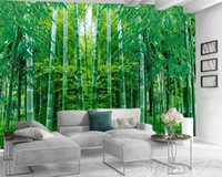 3d Fond d'écran mural 3D Photo Fond d'écran personnalisé Grand vert Bamboo Forest Salon Chambre Wallcovering HD Wallpaper