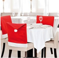 Christmas Chair Copertura Santa Clausola Red Hat Sedia Indietro Covers Dinner Chair Cap Set per Natale Xmas Home Decorazioni per feste YHM15