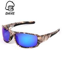 DAVE Марка Polariod поляризованные солнцезащитные очки Мужчины Camo очки Спорт ВС Очки Мужской UV400 Safe Driving Зеркало очки Gafas De Sol