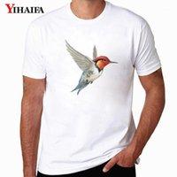 Erkek T-Shirt Yihaifa T-shirt Erkek Harajuku Kuş Baskılı Tee Gömlek Ekip Boyun Kısa Kollu Hayvan Grafik Streetwear Beyaz Tops1