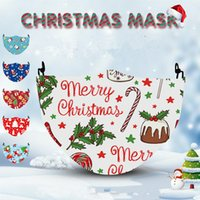 NEW Christmas digital mask PM2.5 dustproof 3D Christmas printed digital mask cotton cloth can be replaced by filter mask AAD2715
