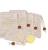 Sapone sapone naturale ramie maglia bar sapone sapone borsa con cordoncino borse titolare pelle pelle pulizia coulisse stenditura sapone sapone sacchetti sacchetti di stoccaggio wmq200