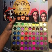 COCOURBAN 56 Colors Eyes Makeup Eyeshadow Palette Night Ghost Eye shadow Matte Shimmer Glitter Gorgeous Rock Roll Shadows Tray