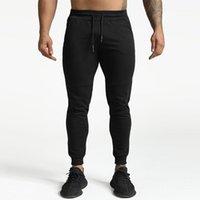 الرجال السراويل الرجال عارضة الملابس الرياضية اللياقة البدنية الأزياء الطويلة الرباط فضفاض الركض في الهواء الطلق تشغيل sweatpants أسود رصاص بنطلون 1