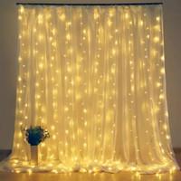 고드름 LED 커튼 문자열 빛 3 * 1 / 3 * 2 / 3 * 3 / 2 * 2 크리스마스 요정 조명 Garland 야외 집 웨딩 파티 정원 장식