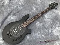 中国OEM電気ベースギターボンゴメタルブラックカラー5文字列HHアクティブピックアップアクティブエレクトロニクス送料無料