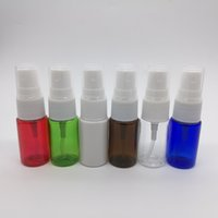 120 unids / lote 10 ml botella de pulverización de niebla colorida de mascotas, botella de viaje recargable de plástico vacío