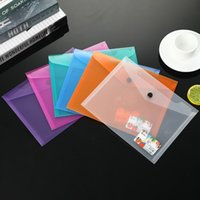 اللون شفافة PP ملف حقيبة A5 زر وثيقة الأعمال حقيبة مكتب المعلومات تخزين ملف حقيبة اختبار ورقة مجلد T3I51668