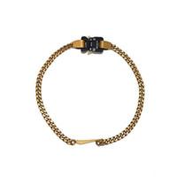 2019 Lancement 1017 Alyx Studio Logo Métal Chain Collier Hommes Femmes Fashion Bracelet Hip Hop Hop Accessoires Street Accessoires Festival Cadeau Gratuit