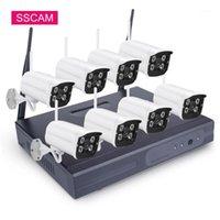 8CH لاسلكية نظام الكاميرا الدوائر التلفزيونية المغلقة 720P 1080P IP كاميرا wifi nvr كيت للماء الأمن المنزلية نظام مراقبة الفيديو 20 متر ir1