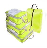 Borse di deposito bagagli compressi sacchetti portatili bagaglio da viaggio portatile intero set impermeabile abbigliamento sacchetto di stoccaggio organizzatore mare spedizione EEB4366