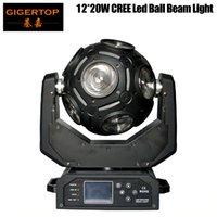 Freeshipping Gigertop 12x20W móvil LED bola universal de la viga de la luz del haz de luz RGBW 4in1 del Cree con los ganchos 21 Canal