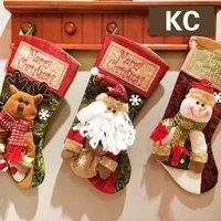 Christmas decoration gifts Santa Claus snowman socks Christmas gifts decoration Christmas socks gift bags Dropshipping F4601