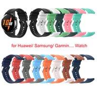 Cinturino in silicone da 20/22mm per Huawei Watch GT2 Pro Honor Watch Watch 2 Band Universal Wristband per Galaxy Active AmazFit Garmin Garmin Guarda