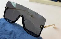 새로운 패션 디자인 선글라스 0540s 연결 렌즈 큰 크기의 작은 스타 장식으로 큰 크기의 절반 프레임 인기있는 고글 최고의 품질