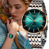LIGE Luxury Ladies Watch Women Waterproof Rose Gold Steel Strap Women Wrist Watches Top Brand Bracelet Clocks Relogio Feminino 201114