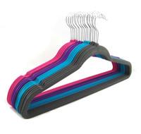 Многофункциональный ряд магазинов одежды вешалки с крюком противоскользящего флокированием вешалки без следа черных вешалок размера 44.50cm