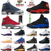 13 13s sílex Bred zapatos CNY baloncesto y una pista de Cap fantasma verde del vestido de Chicago Gato Negro rojo púrpura FlintIsland Lakers para hombre de la zapatilla de deporte deportes