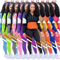 Mujer diseño chándal chándal manga larga remiendo capucha con capucha + pantalones pantalones conjunto de dos piezas otoño trajes moda ropa de ropa deportiva 10 colores