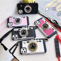 إميلي في باريس أزياء الرجعية 3d كاميرا صدمات الحبل الحبل غطاء مع حزام لفون 12 ميني 11 برو ماكس xs ماكس xr xr × 7 8 6 6 ثانية زائد حد ذاته