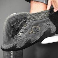 2020 nuevas botas para hombre Nuevo otoño e invierno Mid-top Pigskin Casual zapatos de moda Cross-frontera más tamaño zapatos para hombre calcetines Boca para hombre Elástico BA