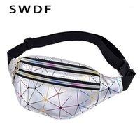 SWDF Fashion Hologrogrogrogrography Fanny Pack женский ремень сумка женские талии Сумки лазерный грудь Телефон Чехол леди банановый кошелек Bum Bag Counne1