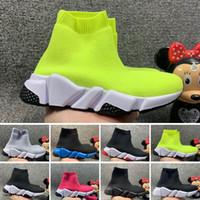 Balenciaga Zapatos Hot Runner velocidad Niños calcetín para niños de diseño Niños Calcetines Calzado niña Botas niño Entrenadores corredores adolescentes zapatillas de deporte