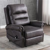 US STOCK Electric Power Ascensore reclinabile Sedia per anziani Classic divano reclinabile Sedia con Nailhead Trim W50123868