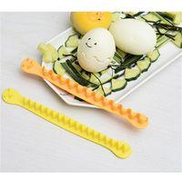 Spitze gekochte Eier Slicer Haushalt Reine Farbe Wave Typ Eierschneider Easy Touse Küche Kochen Gadget 2 PC Set DIY Heißer Verkauf 2 7ek J2