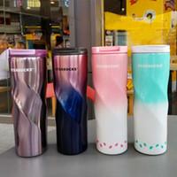 500ml Starbucks-Tasse Männer und Frauen Lieblingsbecher Kaffeetassen Edelstahl-Tassen Support Benutzerdefinierte Logo Schneller Versand