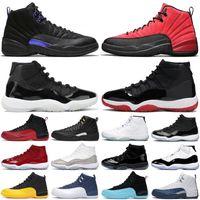 AJ Retro 11 12 sapatos Mens Basketball Jumpman 12s escuro Concord 12 reverso Flu Jogo 11s ouro 25o aniversário 11 Bred Mulheres Sports Sneakers Trainers