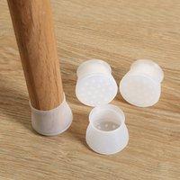 Cubiertas de silla 4pc Tabla Pierna Tapa de silicona Pad Pad Muebles antideslizantes Pies Funda Protector de piso Tapones de orificios Decoración