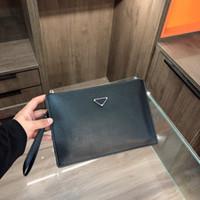 Uomo Moda Briefcases Borsa Triple Black Nylon e Pelle Mens Uomo Business Bags Gentleman Dress Borse Office Laptop Borsa per ufficio Alta qualità