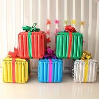 50 cm Büyük Hediye Kutusu Küp Folyo Balonlar Mutlu Doğum Günü Partisi Süslemeleri Parti Balonlar Düğün Balonlar Çocuk Oyuncakları Helyum Balon 396 N2