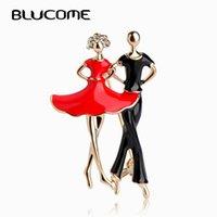 핀, 브로치 블루치 붉은 에나멜 사회 춤 여성 남성 남자 브로치 골드 컬러 핀 어깨 스카프 정장 클립 옷 장식 보석 C