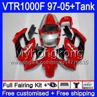 Körper + Tank für Honda Superhawk VTR1000F 97 98 99 00 01 05 56HM.0 VTR1000 F VTR 1000 F 1000F 1997 1998 1999 2000 2001 Verkleidung Fabrik rot