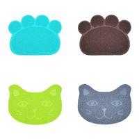 PET PVC Mats antideslizante 30 * 40 cm Dog Cat Color Sólido Anti Cats Landing Litter Mat Basin Supplies Frote Pad Pad 3 6JN M2