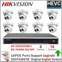 Systèmes Hikvision IP Caméra Kits de la caméra IP 8MP Sécurité DS-2CD2383G0-I CCTV Vidéo Surveillance 16ch 4K Network Poe NVR Kit