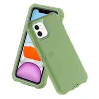 New 3 IN 1 Shockproof Silicone Phone Case for iPhone 12 Mini 12Pro 11 Pro Max 6 7 8 Plus SE Hard Armor Bumper Case