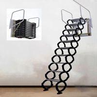 전문 핸드 도구 세트 3.1-3.5m 야외 교수형 개폐식 계단 수동 벽 마운트 접이식 사다리 휴대용 계단 세트