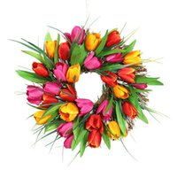 Decorative Flowers & Wreaths 15.7 Inches And 11.8 Round Front Door Decoration Garland (with Rattan Base) Halloween Christmas Wedding Arch Ho