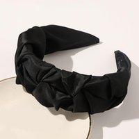 Twist treccia larga rugoso annata annata a forma di colore solido donne fascia fashion satin head head hairband turban accessori per capelli q q sqcspk