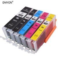 Kits de recharge d'encre Dmyon Cartouche PGI450 CLI451 Compatible pour Canon PIXMA MG5440 MG5540 MG6440 IP7240 MX924 IX6540 IX6840 IX6850 Imprimante