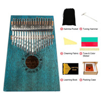 17 Anahtar Kalimba Taşınabilir Başparmak Parmak Piyano Mahogany Müzik Aletleri MBIRA Çocuk Başlangıç Kalimba Ile Çekiç Sticker Kiti ile
