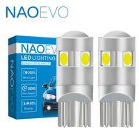 NAOEVO W5W T10 LED BLUB BLUB 3030 5W5 1.6W 12V 12V WY5W Voiture Lumière intérieure 194 pour A6 C7 Q5 Q7 C5 A4 B8 A3 Dôme Wedge Specaint11