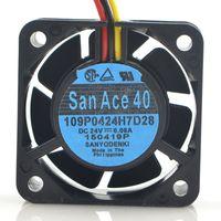 Sanyo 109P0424H7D28 24 V 4CM 4015 per FANUC CNC MACCHINA MACCHINA STRUMENTO Ventola