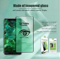 9h resistente a riscos de vidro clara verde vidro temperado anti fadiga, miopia ultraviolet à prova de luz azul tela celular protetor